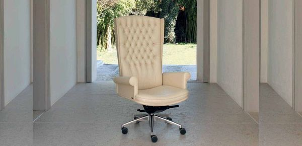 Empire leather armchair Mascheroni כיסאות קלאסיים