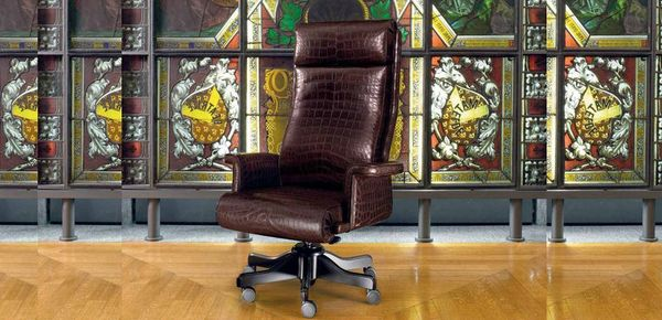 Vip Mascheroni leather armchair כיסאות קלאסיים